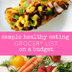 sample healthy eating grocery list on a budget