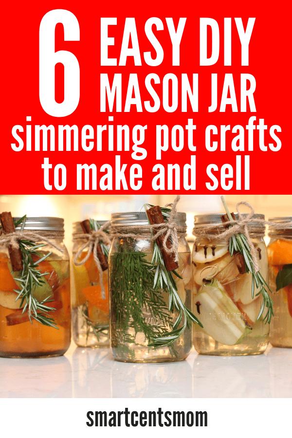 Mason Jar Potpourri (EASY Christmas Crafts to Make & Sell)