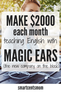Teach English Online with a fun new company, Magic Ears! Just like teaching with VIP Kid you can start an easy side hustle teaching english to kids online. No lesson plans! Online learning activities that makes teaching fun! #vipkid #magicears #teachingenglish #sidehustle