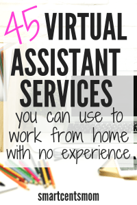 Virtual assistant services you can use to start a work from home job. Small businesses are looking for virtual assistants to help them with these in-demand services. Find out the skills you can use to make money from home! #virtualassistant #workfromhome