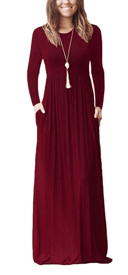 fall dress long maxi dress under 30