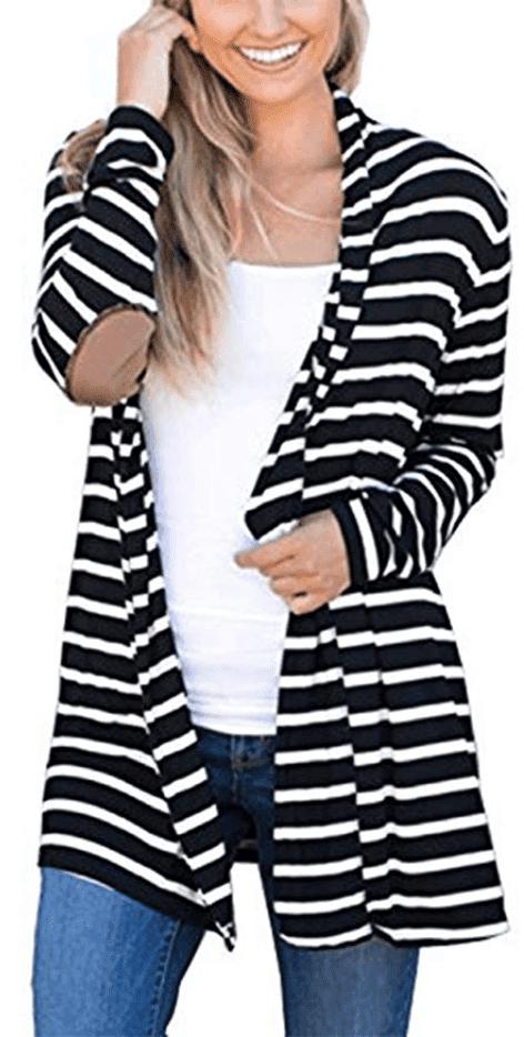 fall fashion striped cardigan