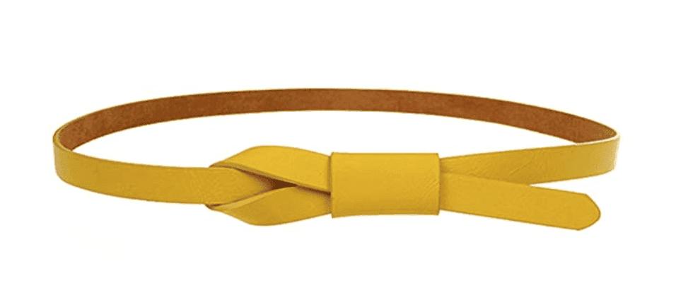fall fashion must haves skinny yellow belt