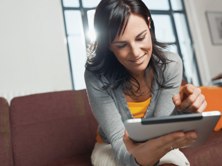 woman proofreading online