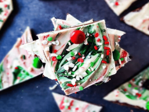 Christmas Chocolate Bark for craft show