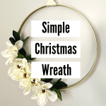 embroidery hoop wreath DIY for Christmas