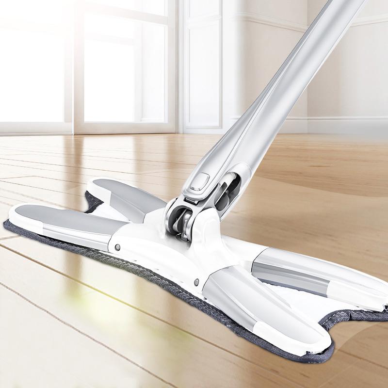 X-Type Floor Mop with Replaceable Cloths