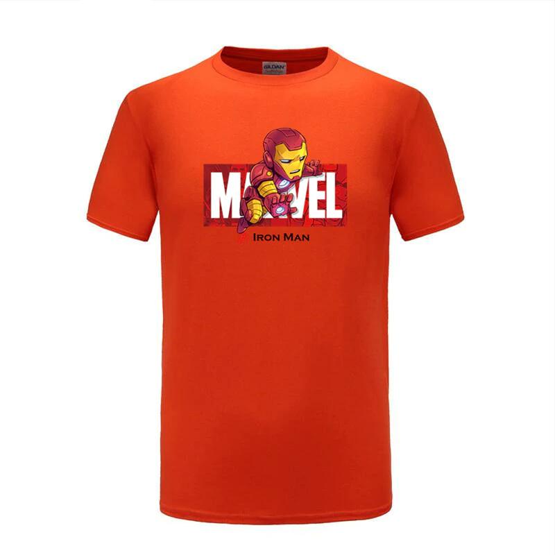 cotton t shirts captain america navy orange