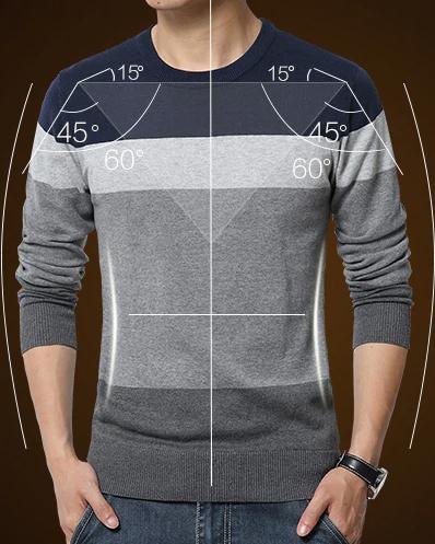 striped slim sweaters