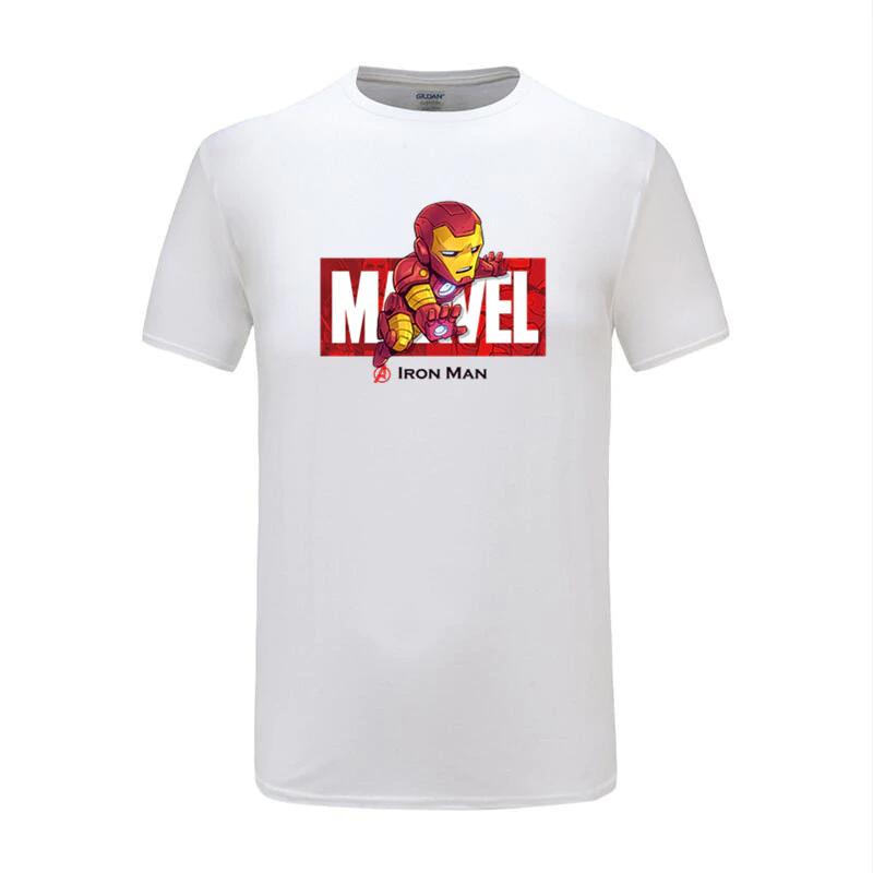 cotton t shirts ironman white