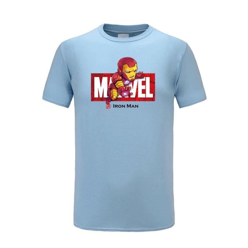 cotton t shirts ironman blue