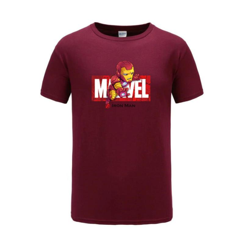 cotton t shirts ironman maroon
