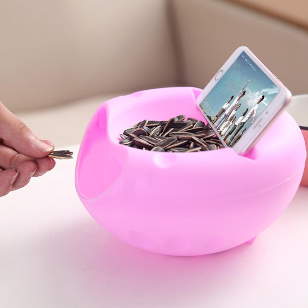 Lazy Snack Bowl pink