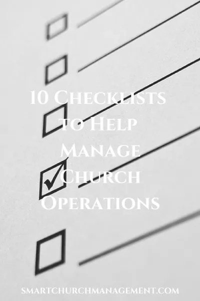 10 Checklists to Help Manage Church Operations