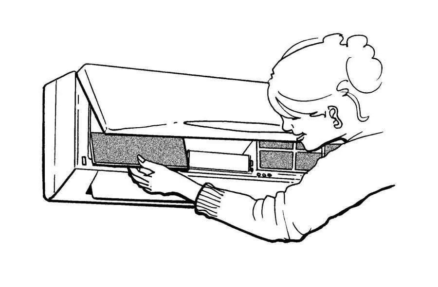 Air Conditioner Indoor Unit Air Filter Anti-bacteria