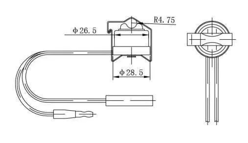 Bimetallic switch refrigeration defrost termination
