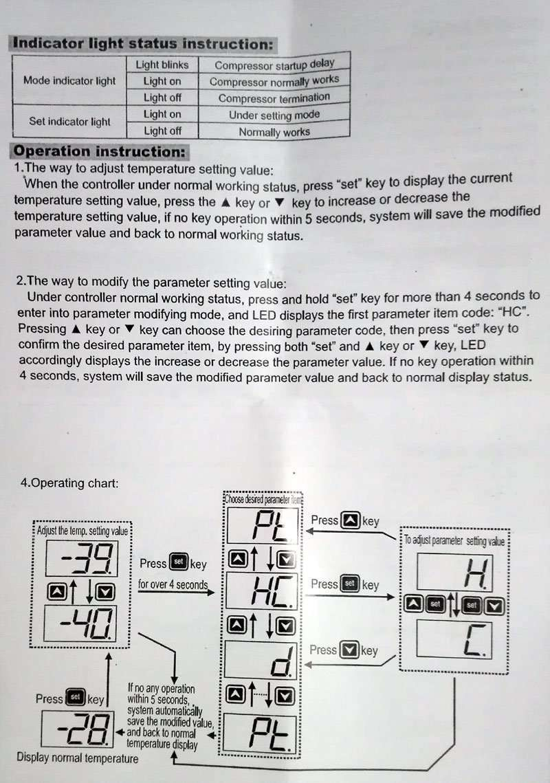 An Schematic From A Light Wiring Diagram Refrigerating Amp Heating Thermostat Stc 100a Manufacturer