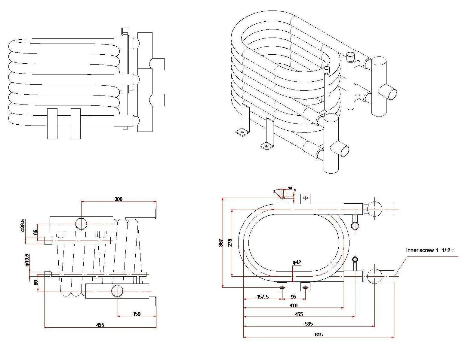 HVAC parts: Supply 7.5 ton Coaxial Condenser for marine,7