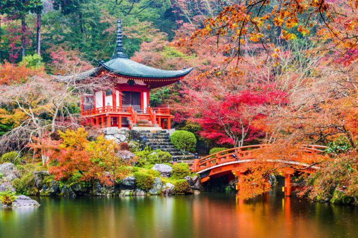 Πίνακας σε καμβά - Αξιοθέατο - Βουδιστικός ναός στο Κιότο, Ιαπωνία - SmartCrafts