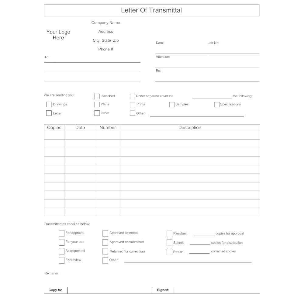 Transmittal Form Sample Template Choice Image Template Design Ideas