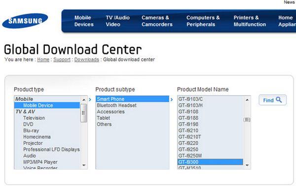 SGS3-Downloadcenter