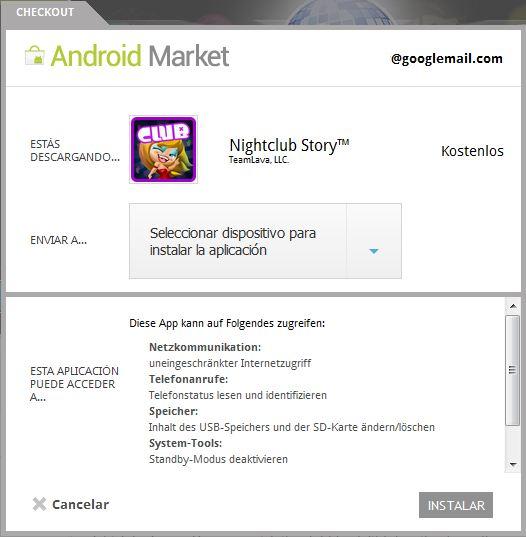 android market sprachproblem
