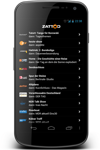 Zattoo Android
