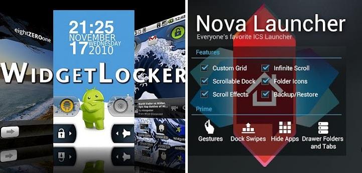 nova launcher und widgetlocker
