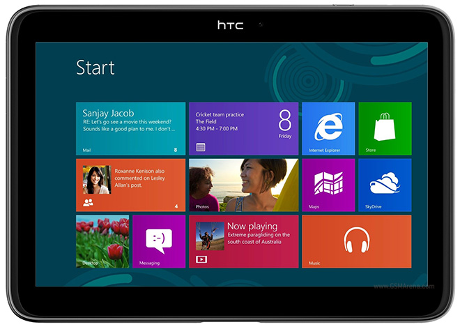 HTC Windows 8 Tablet Mockup