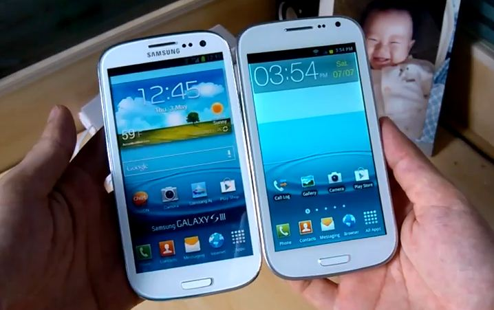 Galaxy s3 vs galaxy s3 fake