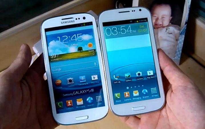 Galaxy s3 vs galaxy s3 fake