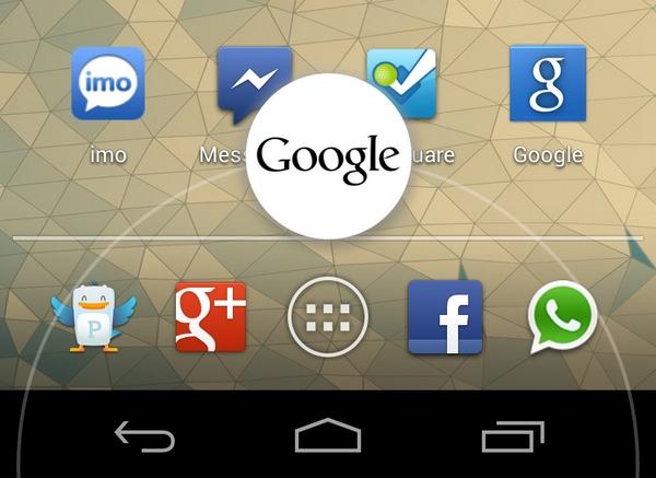 Jelly Bean - Google Now Swipe