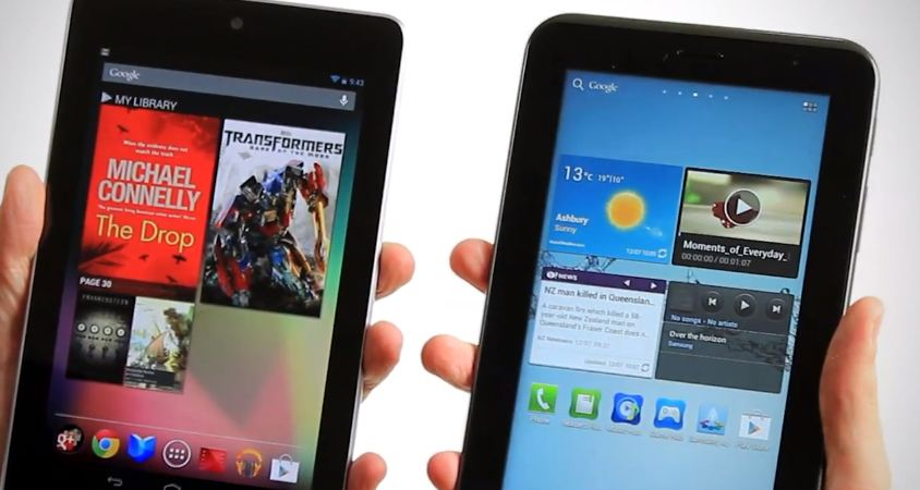 nexus 7 vs galaxy tab 2