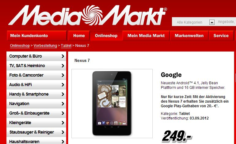 media markt nexus 7