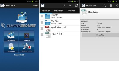 Rapidshare Android