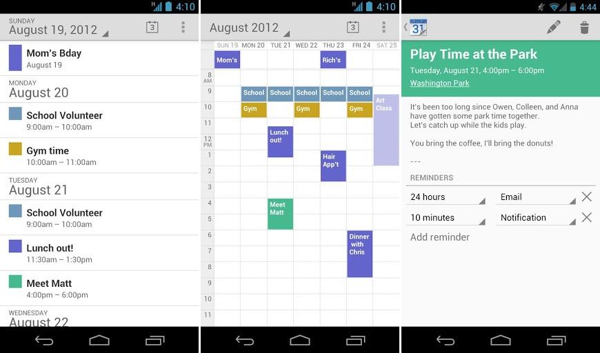Google Kalender App Aufgaben