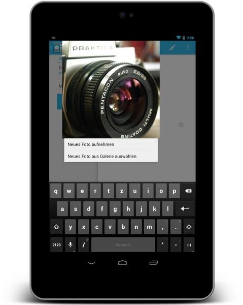 Kontaktfoto Auflösung Screenshot