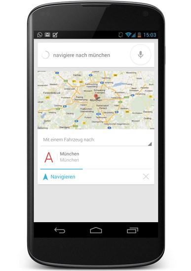 Google Now Sprachbefehl