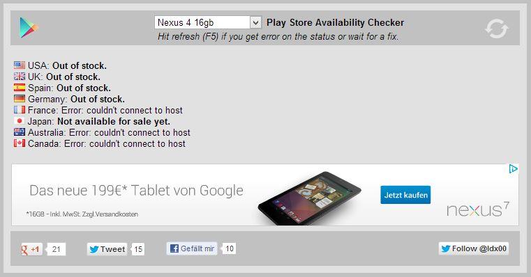 Play Store Availability Checker