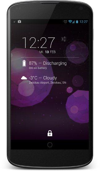 DashClock Battery Extension Screenshot