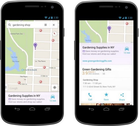 Google Maps Werbung App Screenshots