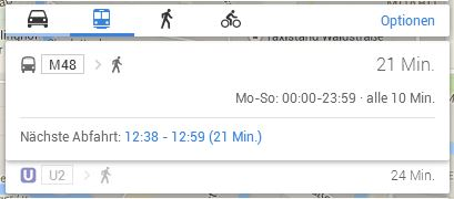 Google Maps Transit Berlin
