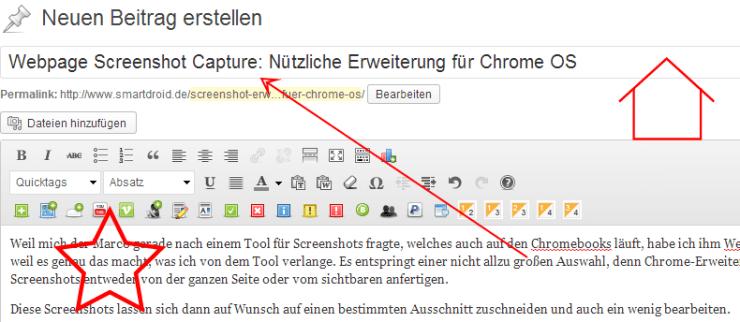 webpage screenshot erweiterung