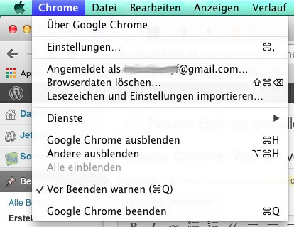 chrome beenden screenshot