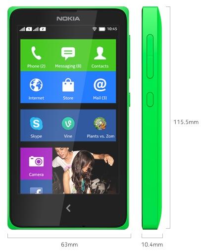 Nokia X Pressebild