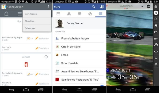 facebook gigaset f1 app button