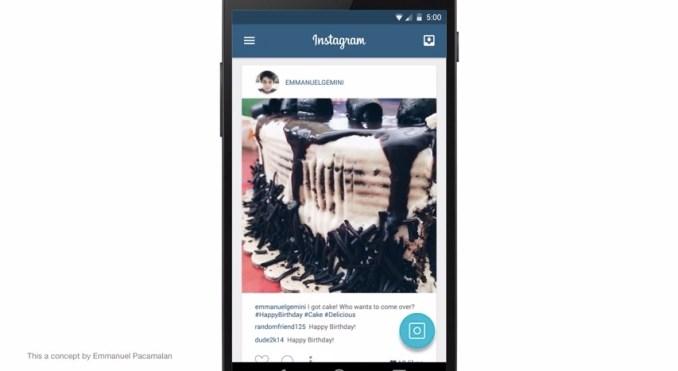 Instagram-Konzept