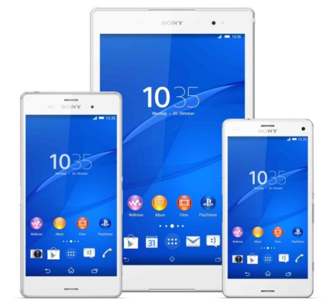 Xperia Z3, Z3 Compact, Z3 Tablet Compact