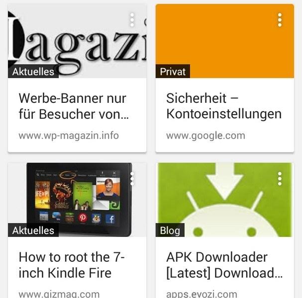 Lesezeichen Android Aufrufen