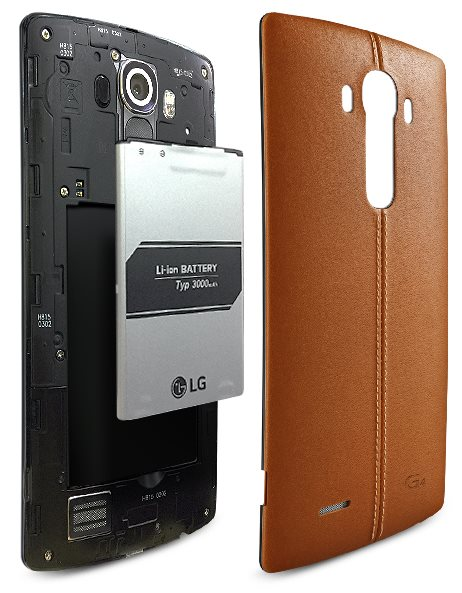 LG G4 Lederrückseite, Akku